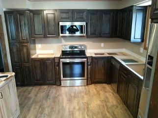 Rustic wormy maple kitchen
