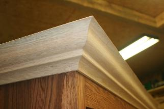 Custom made crown molding on kitchen cabinets Waterford, Ontario