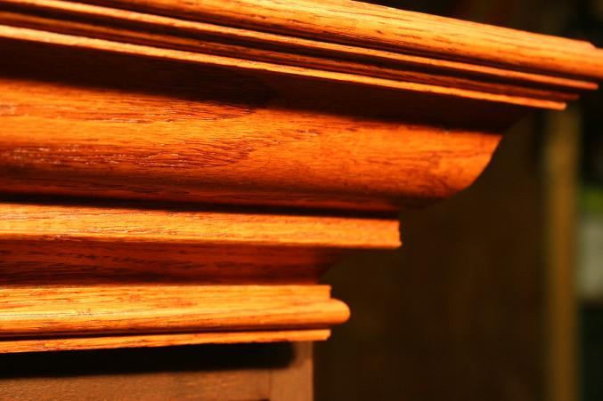 Custom made oak crown molding