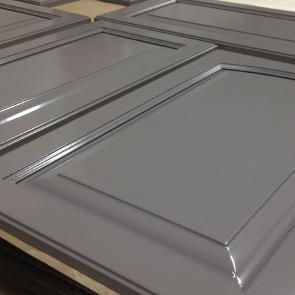 Grey cabinet colour raised panel doors