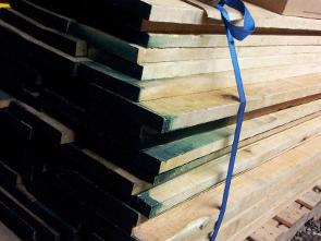 We use kiln dried rough cut lumber to make kitchen cabinets
